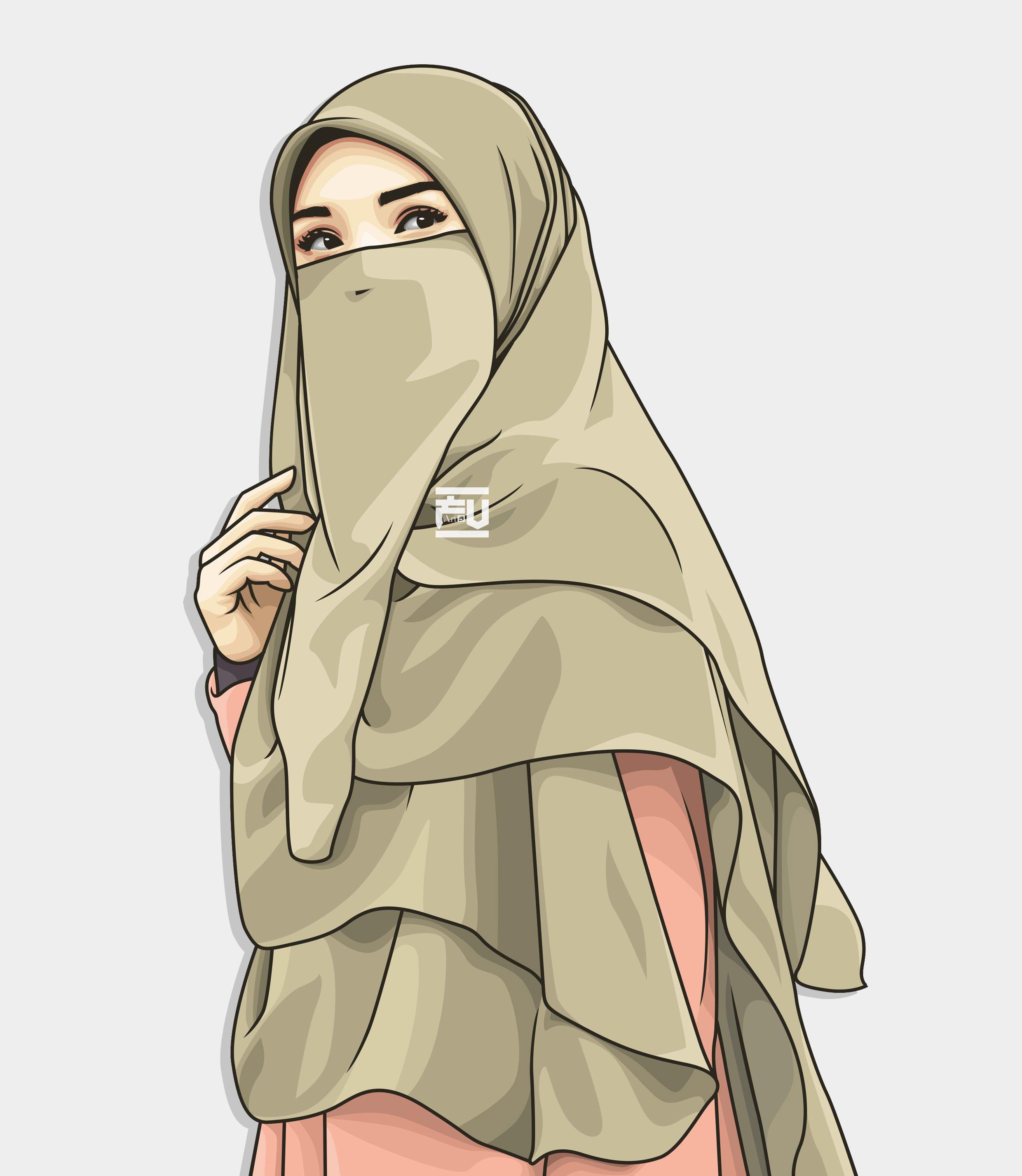 Kartun Muslimah Bercadar Cantik 2480x2855 Wallpaper Teahub Io