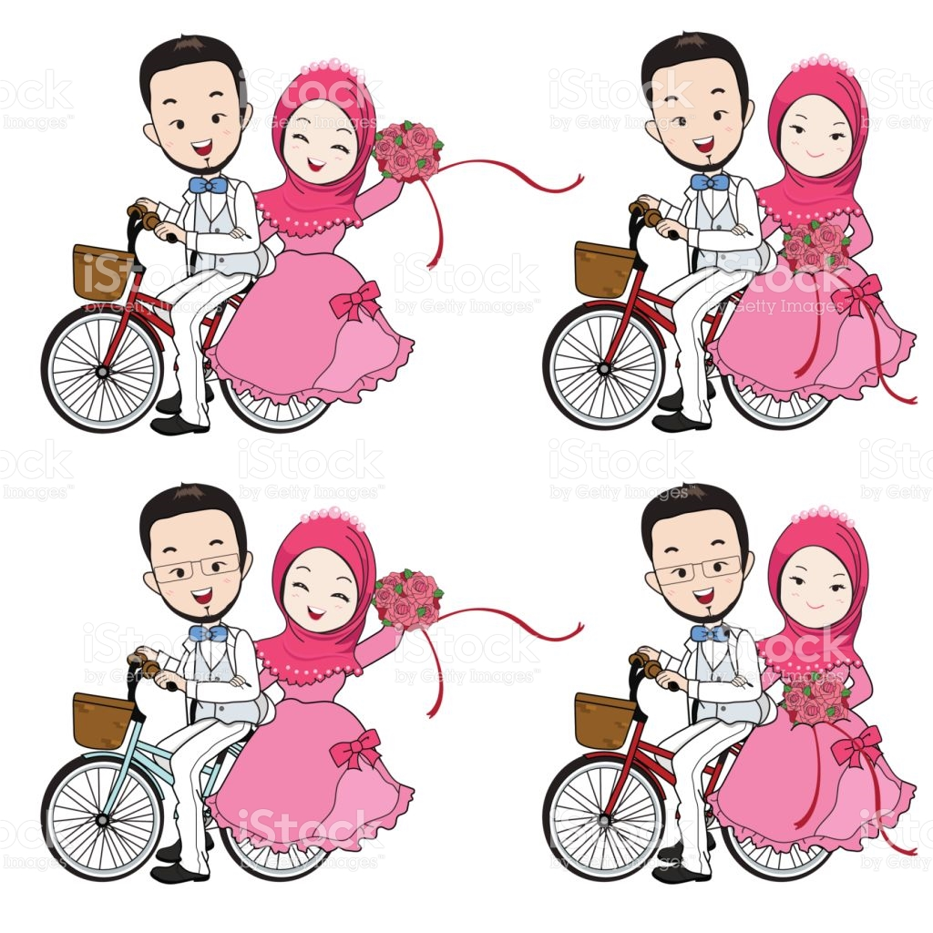 Islam Clipart Muslimah Cartoon Free Collection Download - Clipart Wedding Muslim - HD Wallpaper