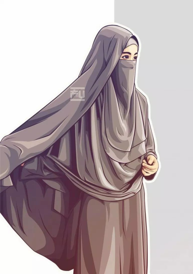 Kartun Muslimah Cantik Dan Keren - HD Wallpaper