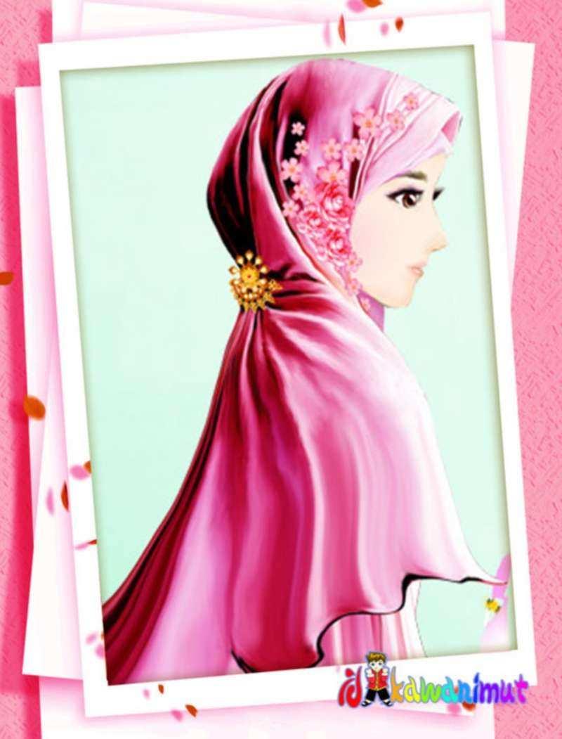 Kartun Muslimah 800x1051 Wallpaper Teahub Io