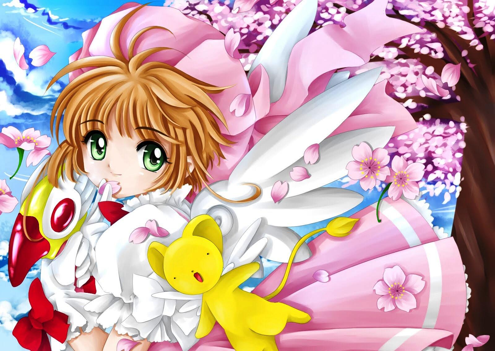 Gambar Kartun Perempuan Cantik - Serviette De Bain Sakura Card Captor - HD Wallpaper