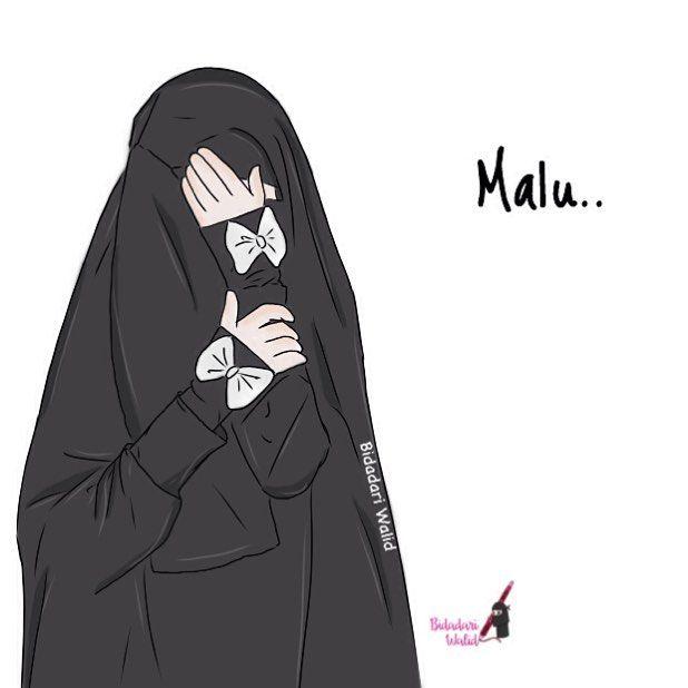 Kartun Muslimah Bercadar - HD Wallpaper
