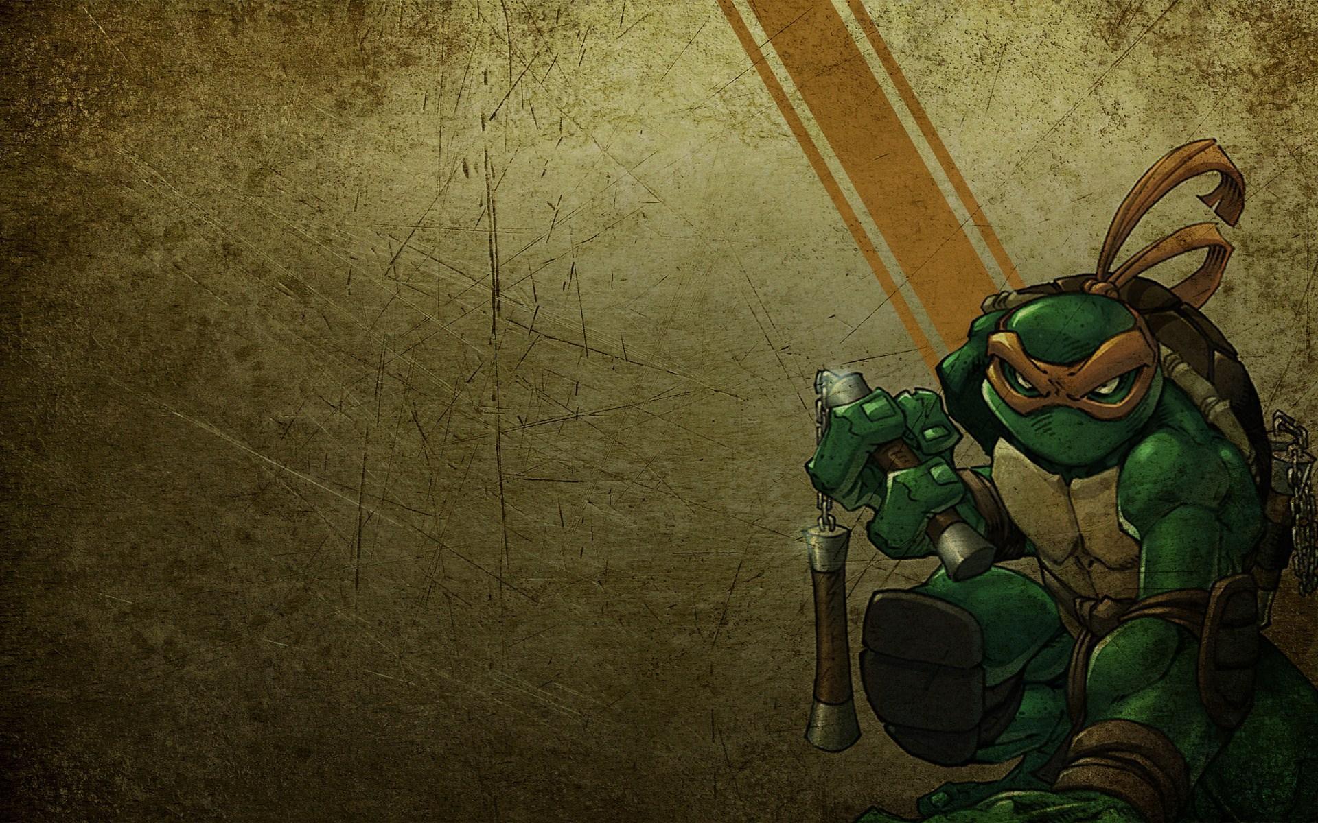 Kura-kura Ninja Michelangelo Mike Animasi Kartun - HD Wallpaper