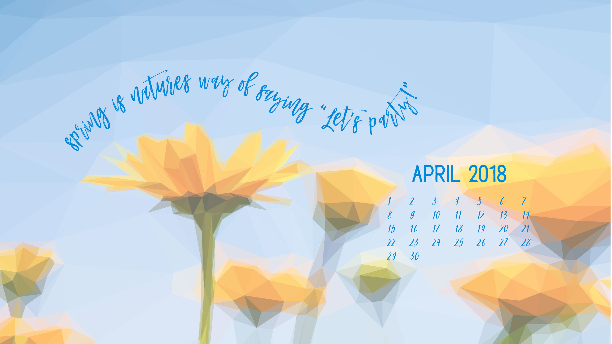 Geometric Daffodil Digital Wallpapers - Sunflower With Quote Wallpaper Laptop - HD Wallpaper