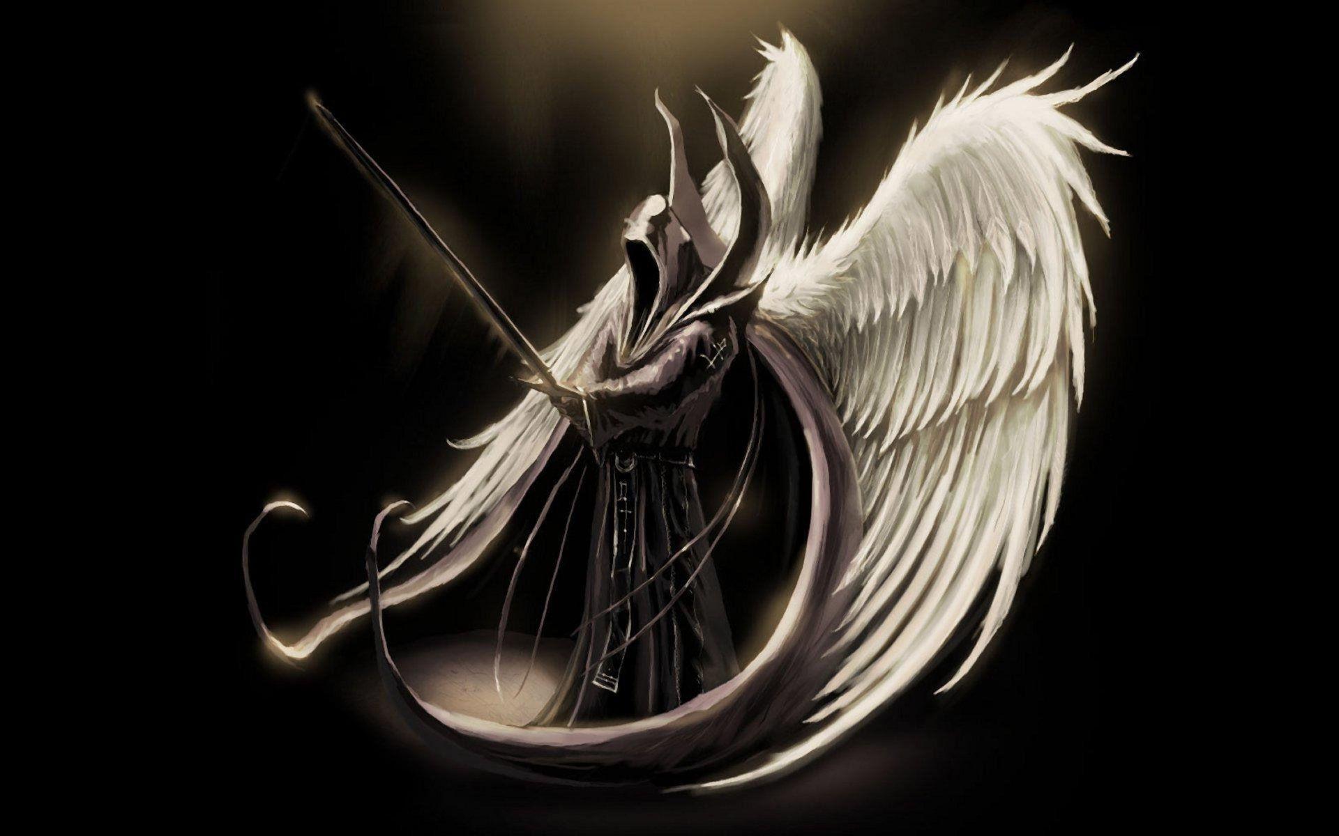 1920x1200, Free Angel Wallpaper Beautiful Fantasy Angel - Dark Angel With Sword - HD Wallpaper