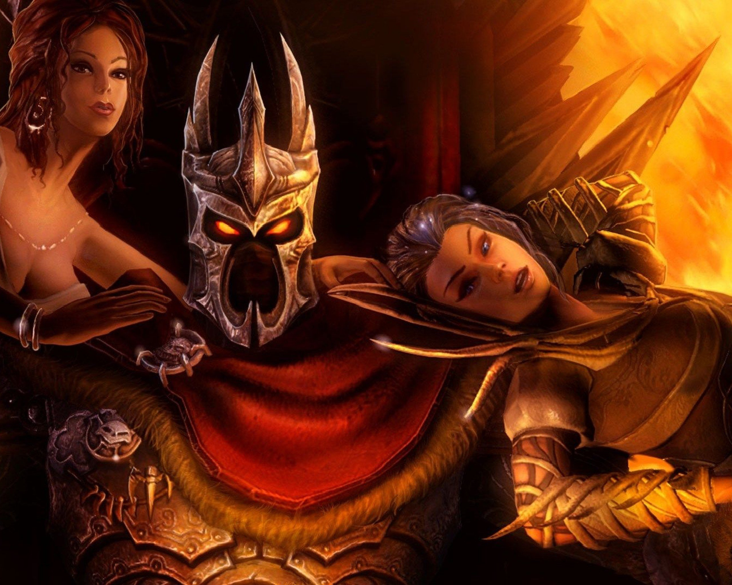 Ronnie James Dio Heavy Metal Fantasy Warrior Mask Armor Overlord 2 Game Character 2560x2048 Wallpaper Teahub Io