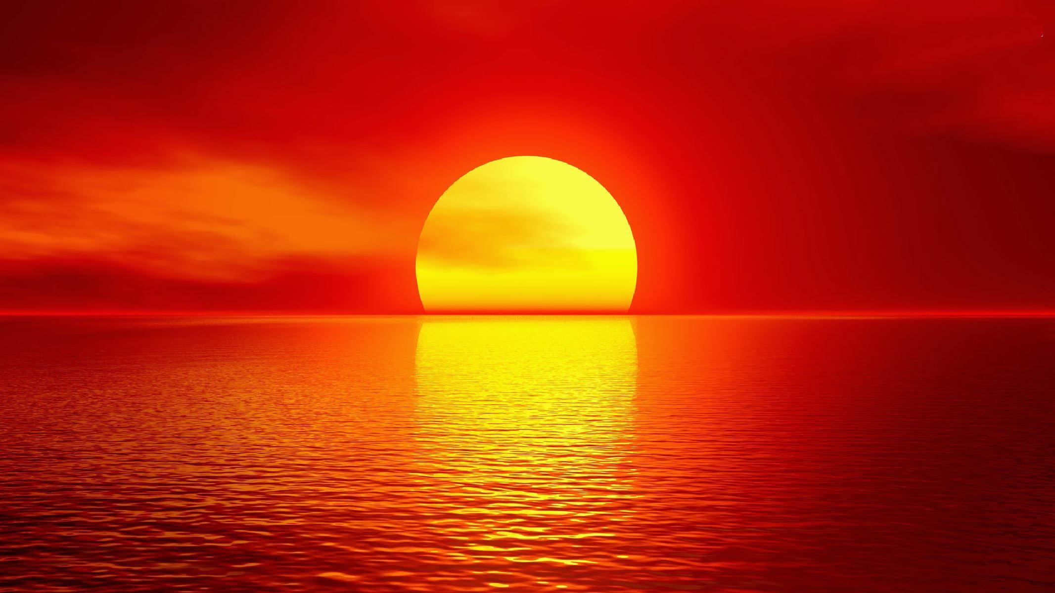 Red Sunset 2133x1200 Wallpaper Teahub Io