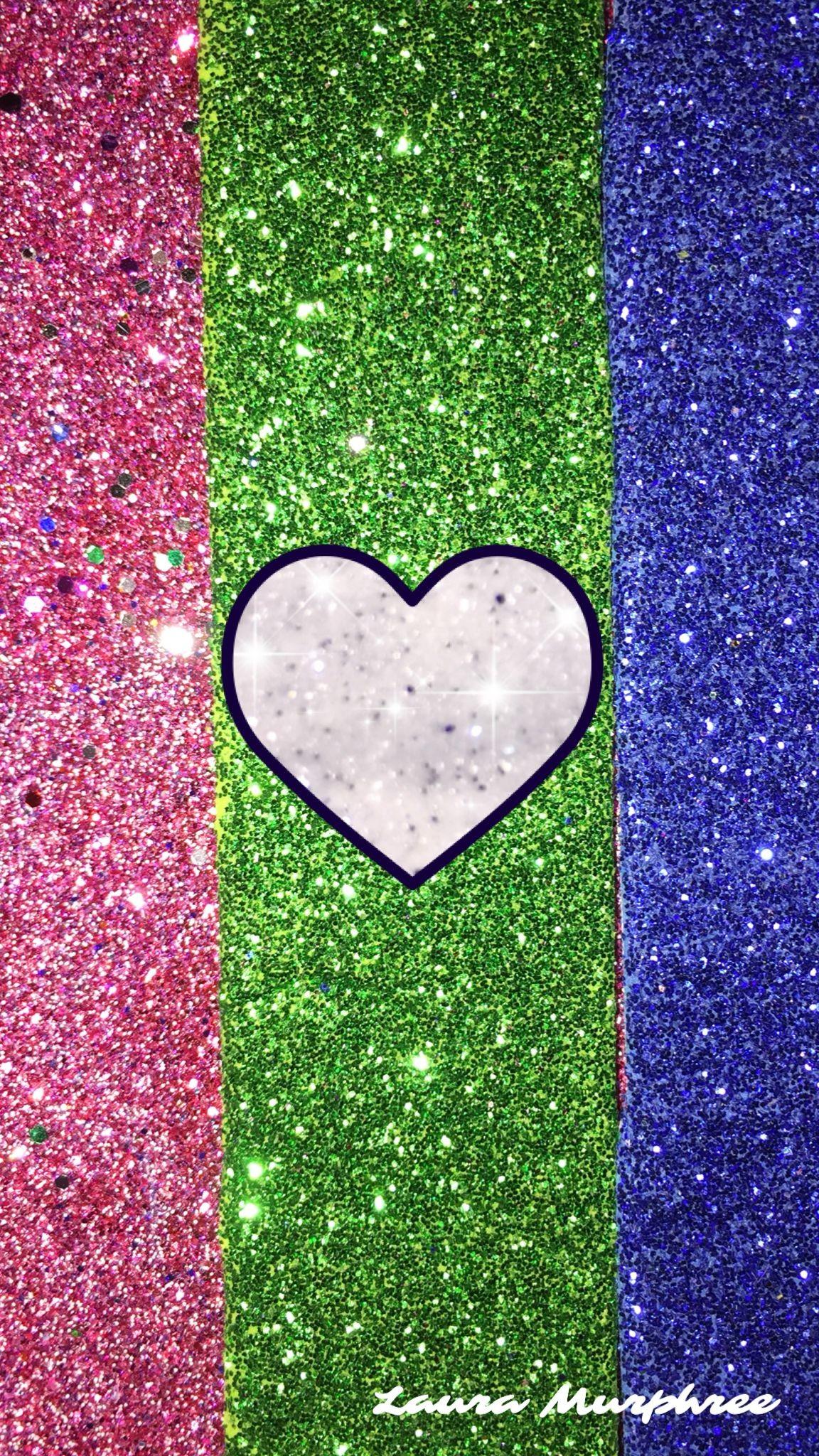 1152x2048, Glitter Heart Phone Wallpaper Sparkle Backgrounds - Beautiful Wallpaper Glitter Heart - HD Wallpaper