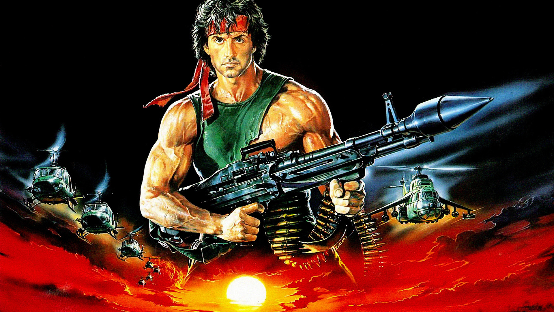 Rambo Background Free Images - Rambo First Blood Part Ii Banner - HD Wallpaper