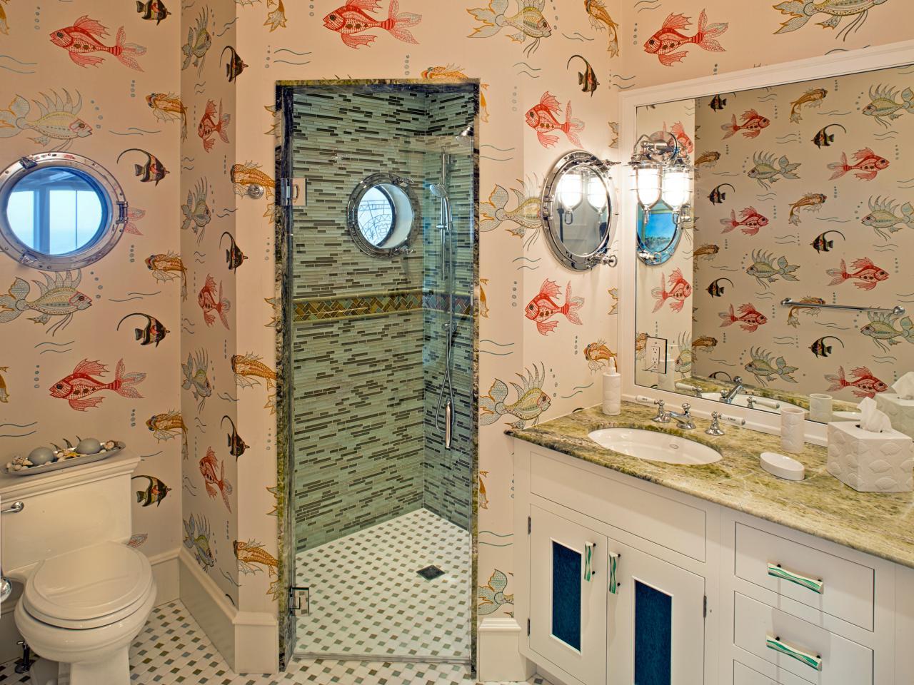 Remarkable Ocean Bathroom Fish, Fishing Themed Bathroom Decor