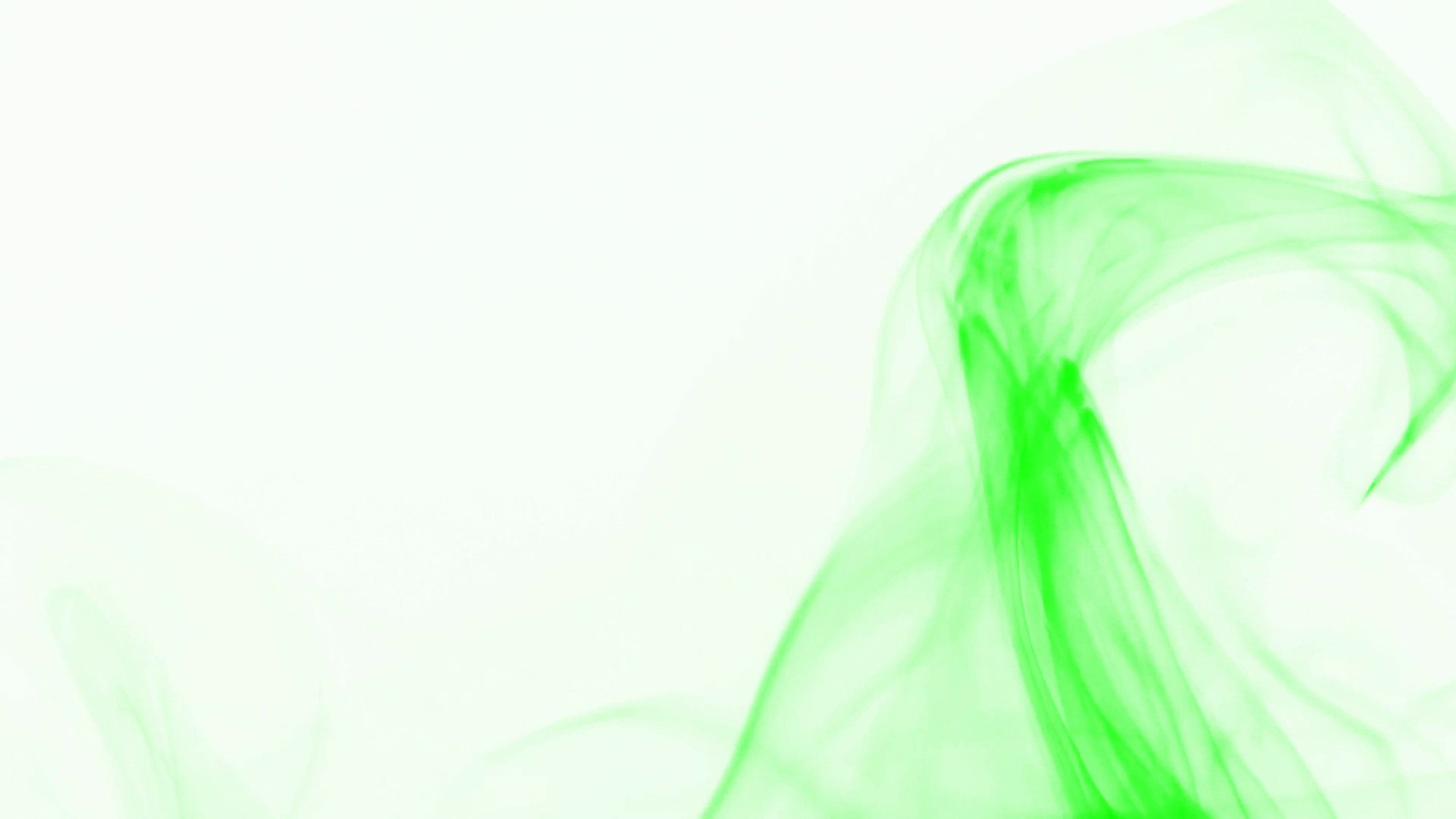 Curly Wave Of Light Green Smoke On White Background - White With Green Background - HD Wallpaper