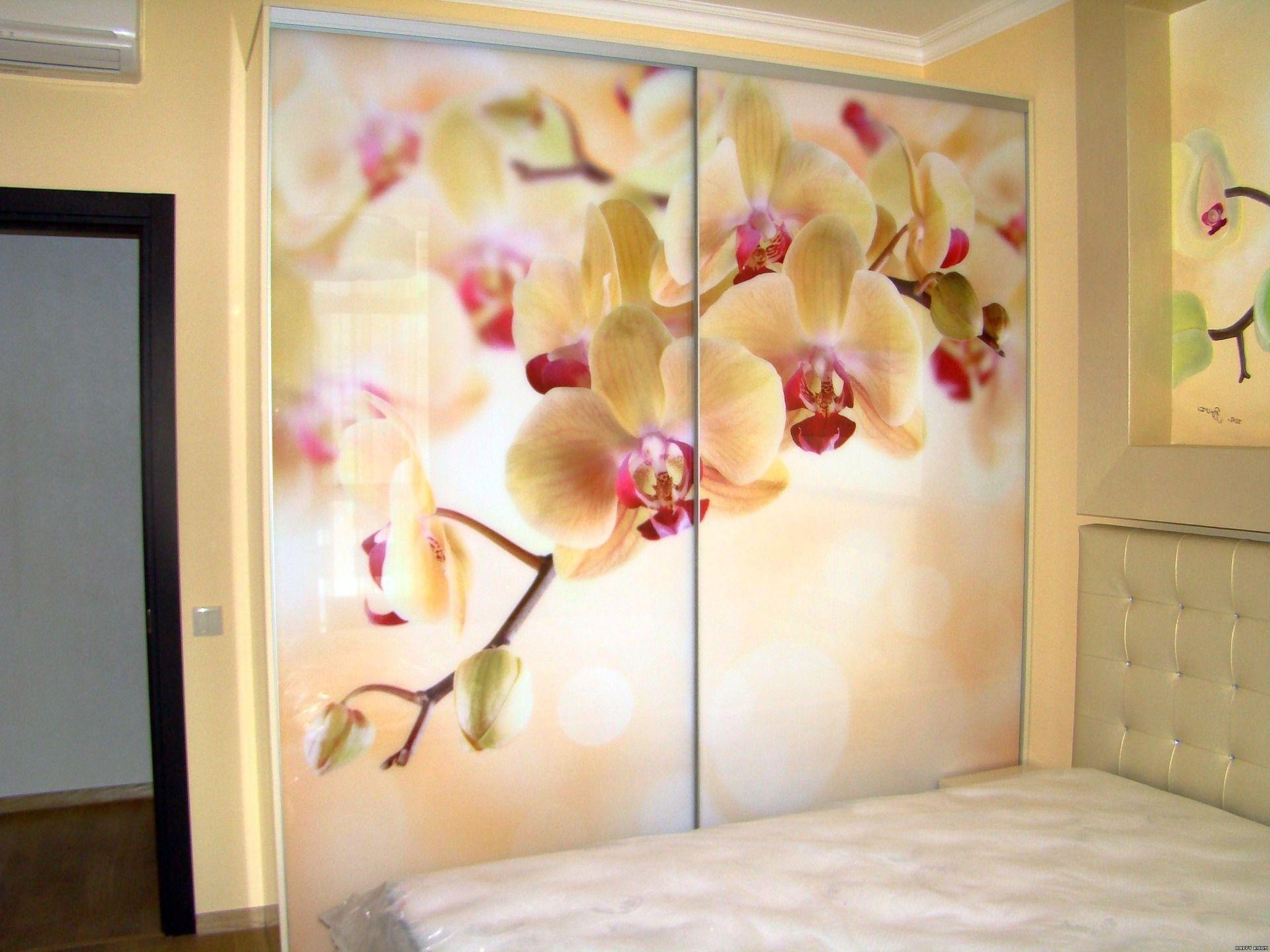 Bedroom Cupboard Flower Design - HD Wallpaper