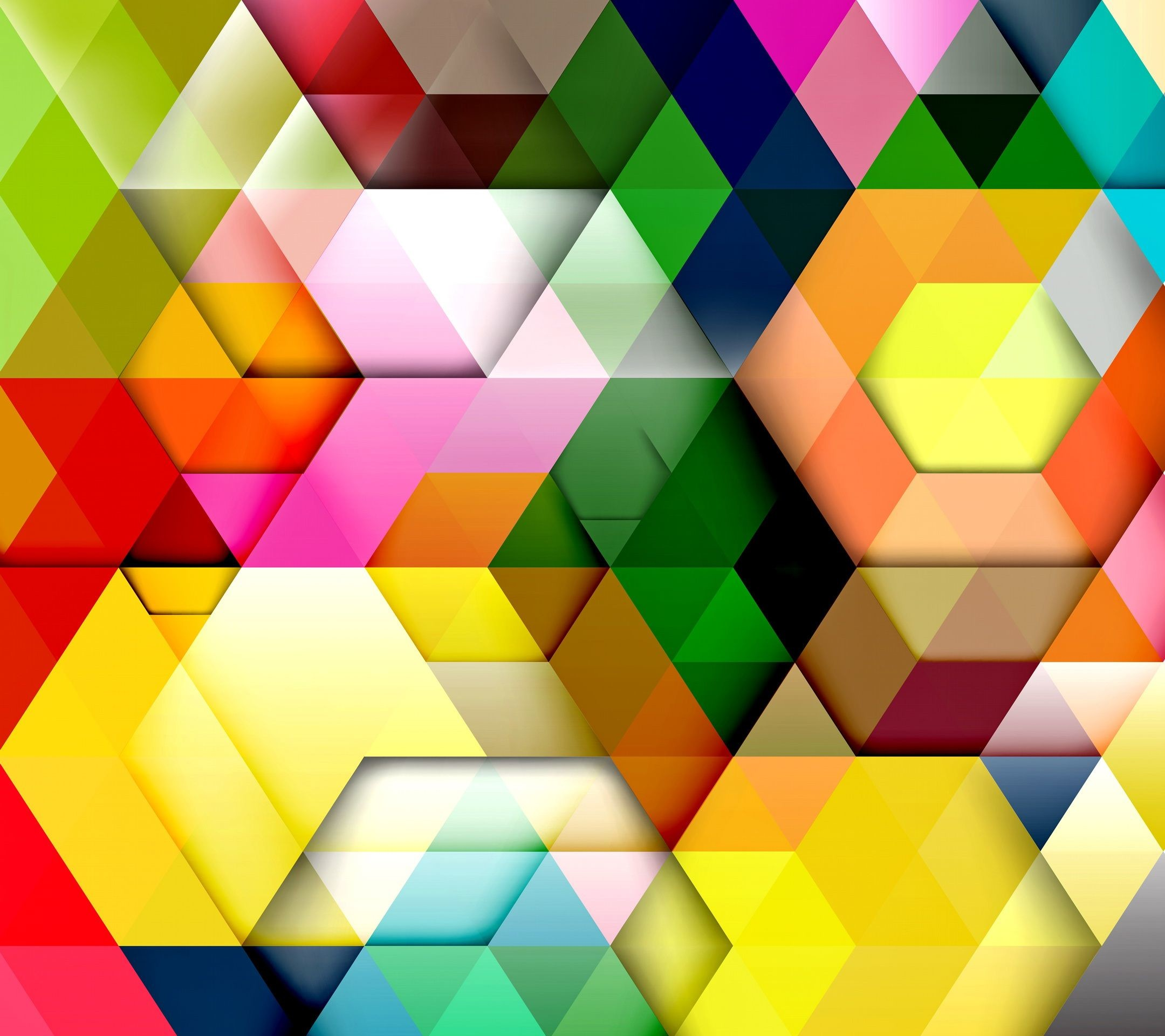 2160x1920, Colorful Abstract - Colorful Geometric Abstract - HD Wallpaper