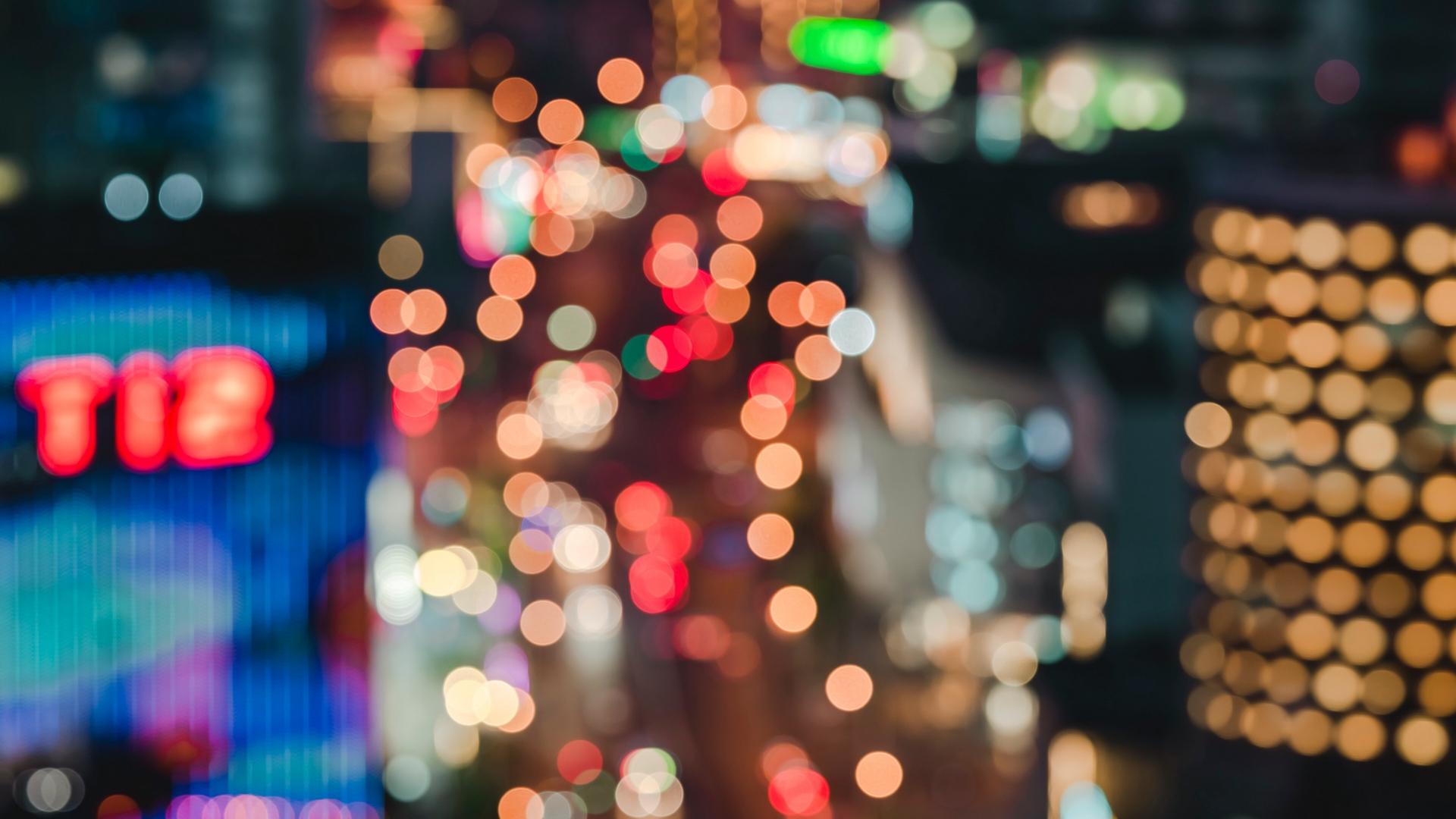 Wallpaper Blur Bokeh Lights Colorful Glare City Blur City Background Hd 1920x1080 Wallpaper Teahub Io Hd wallpaper lights blur city glare