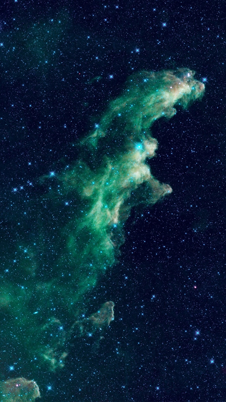 Galaxy, Wallpaper, And Space Image - Blue Green Galaxy Aesthetic - HD Wallpaper