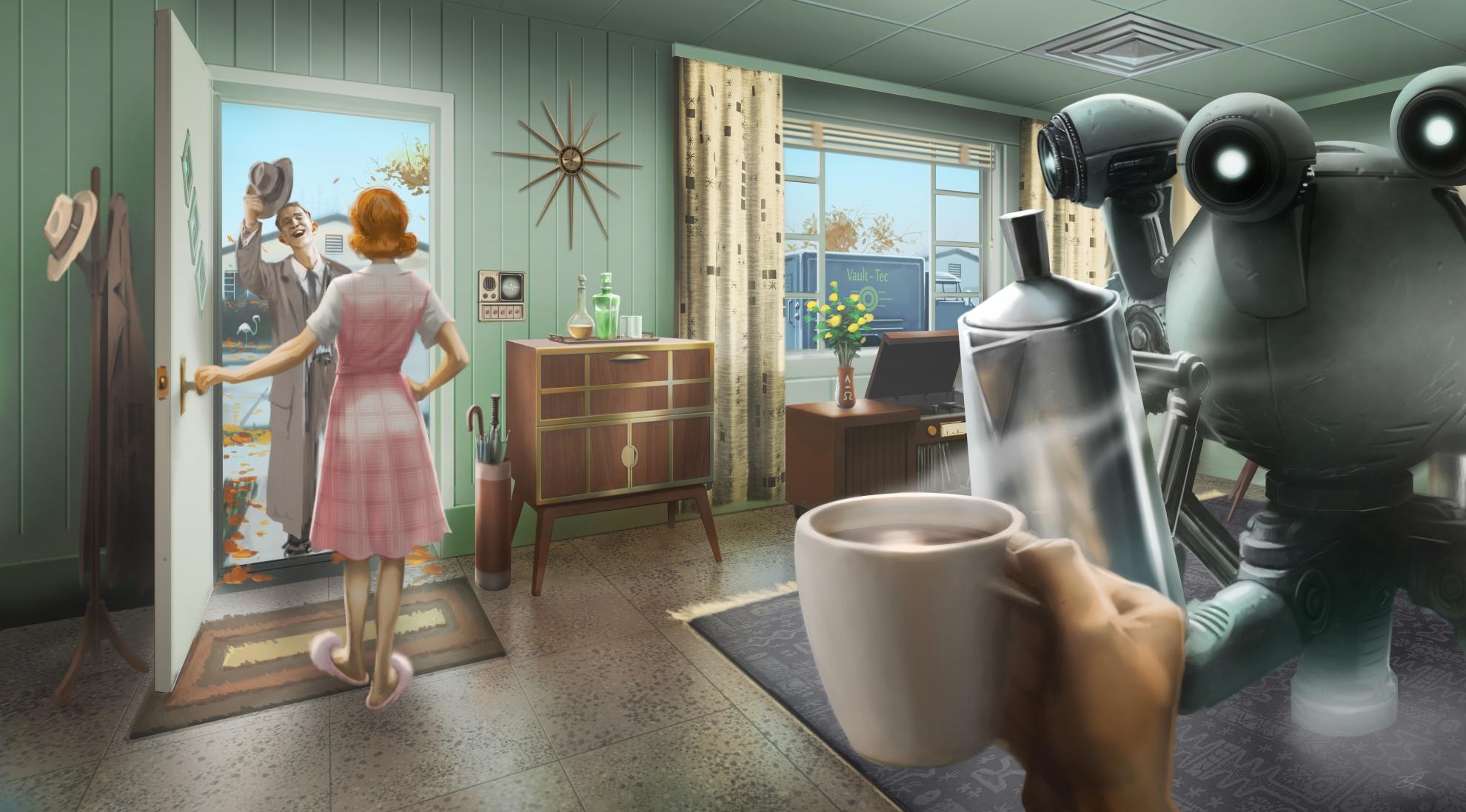 Fallout 4 Pre War Concept Art - HD Wallpaper