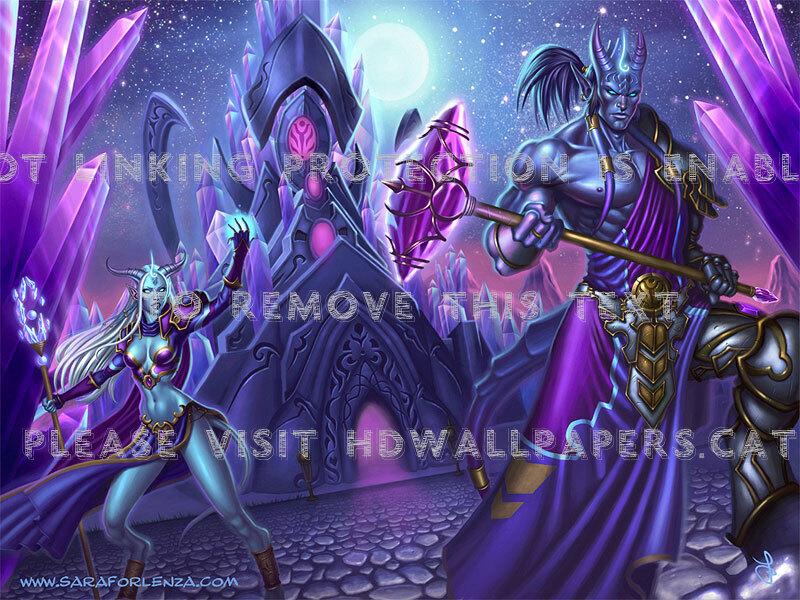 Draenei Fan Art Wow Beautiful Colors World - World Of Warcraft Draenei - HD Wallpaper