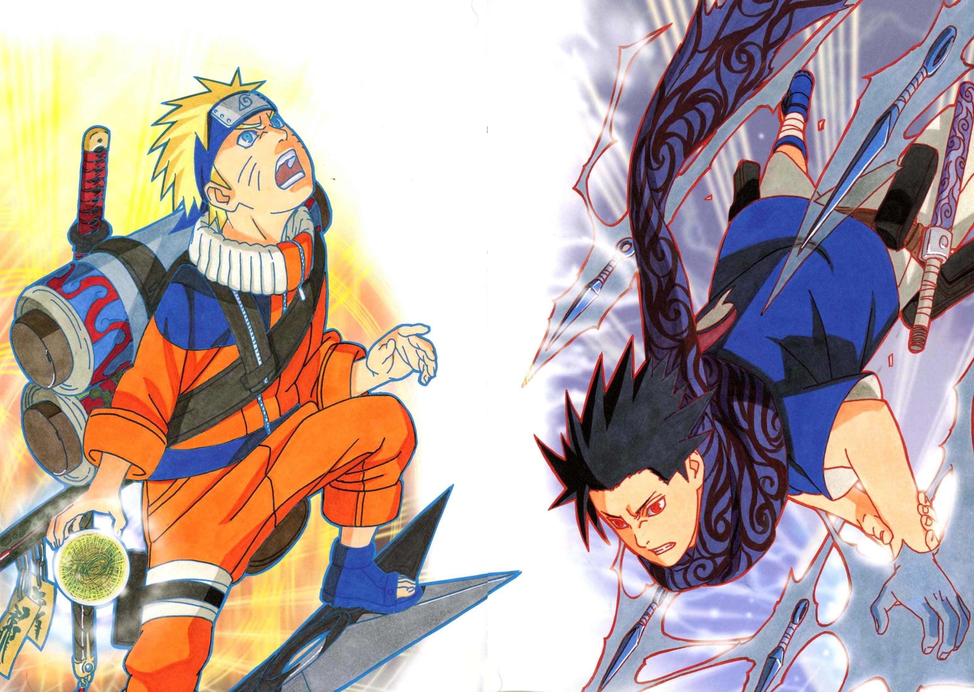Naruto And Sasuke Kishimoto - HD Wallpaper