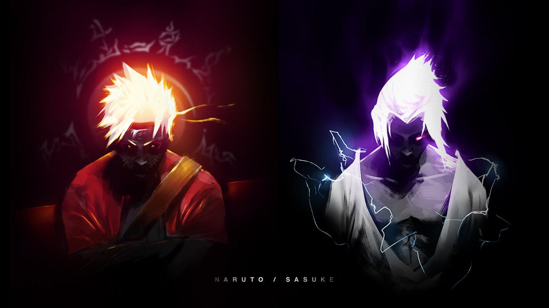 226 2266334 naruto sage mode and sasuke