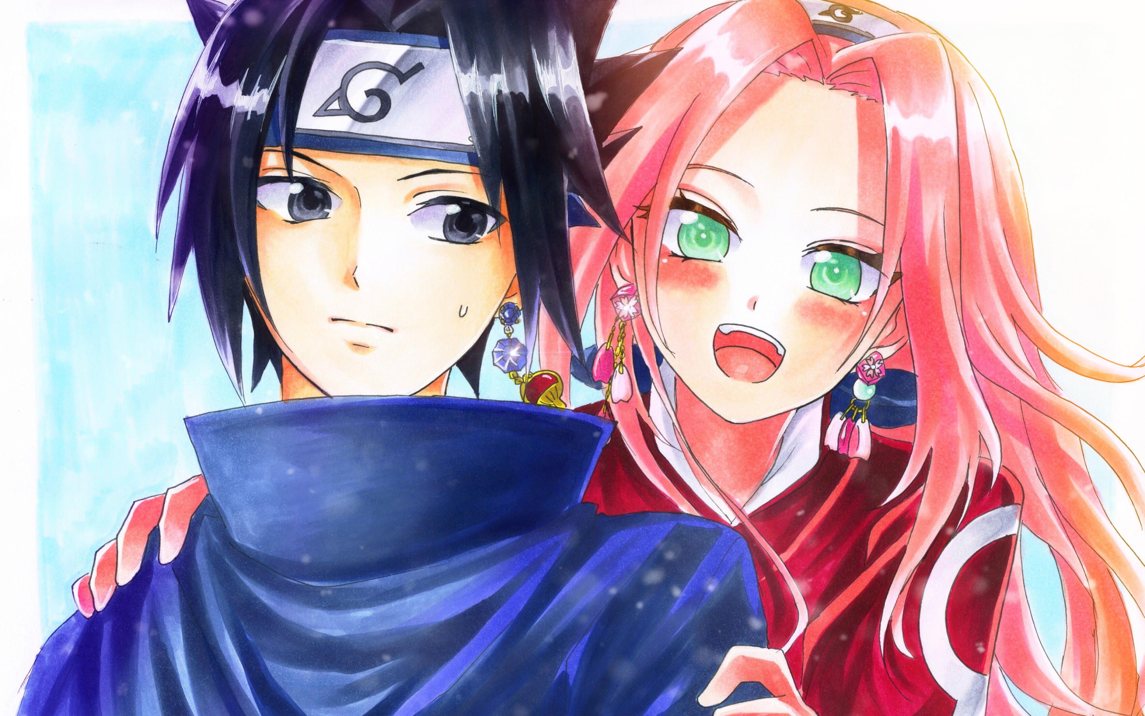 227 2273156 sasuke uchiha and sakura haruno 4k naruto characters