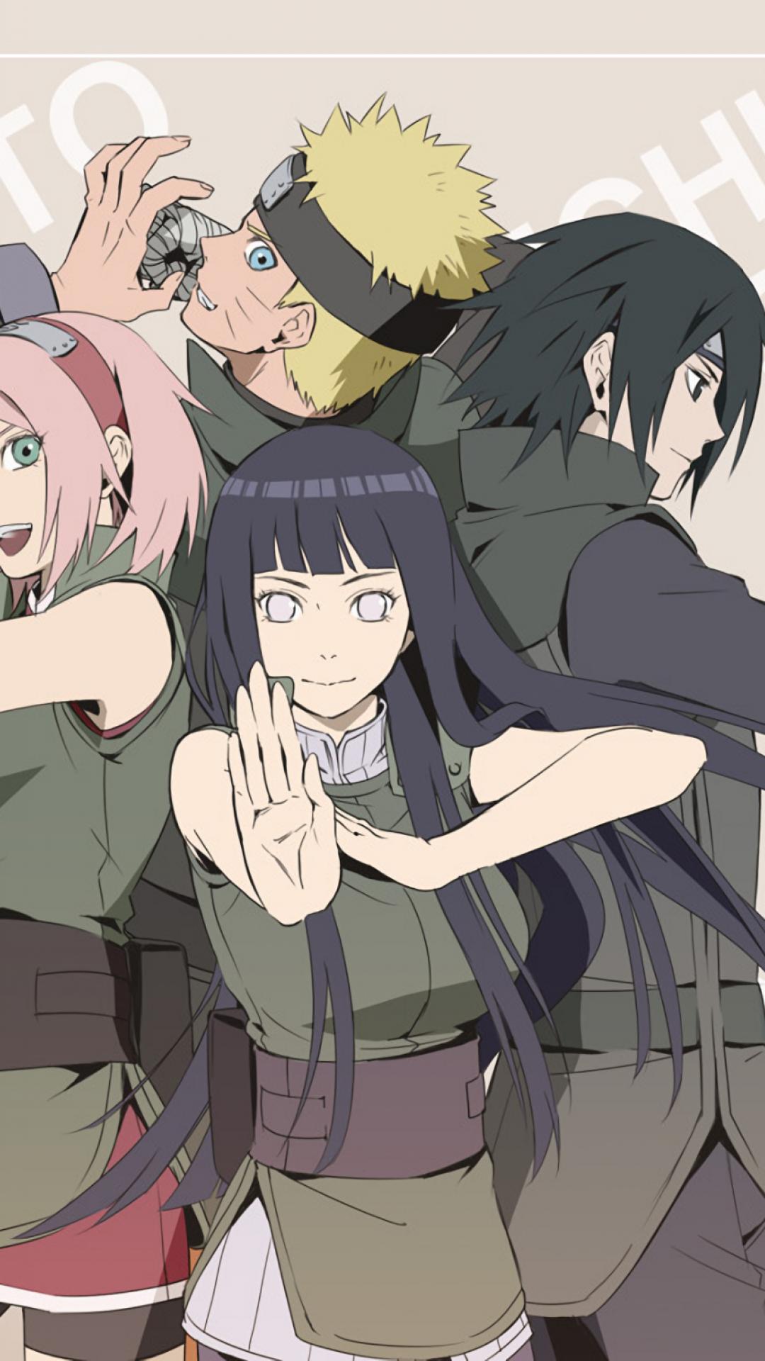 Naruto, Team 7, Sakura, Sasuke, Hinata - Naruto Sasuke Sakura Hinata - HD Wallpaper