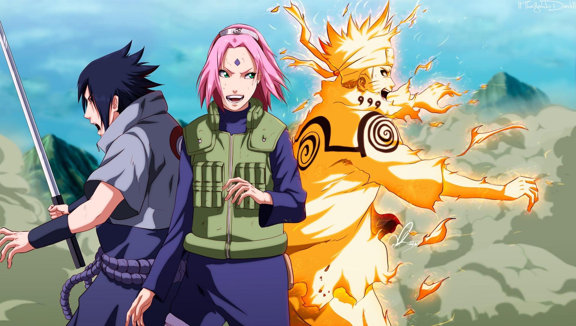 Naruto Sasuke E Sakura - 1920x1087 Wallpaper - teahub.io
