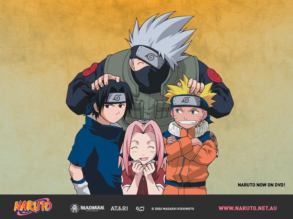 Kakashi Hatake, Naruto, Sasuke And Sakura - Kakashi Naruto And Sasuke - HD Wallpaper