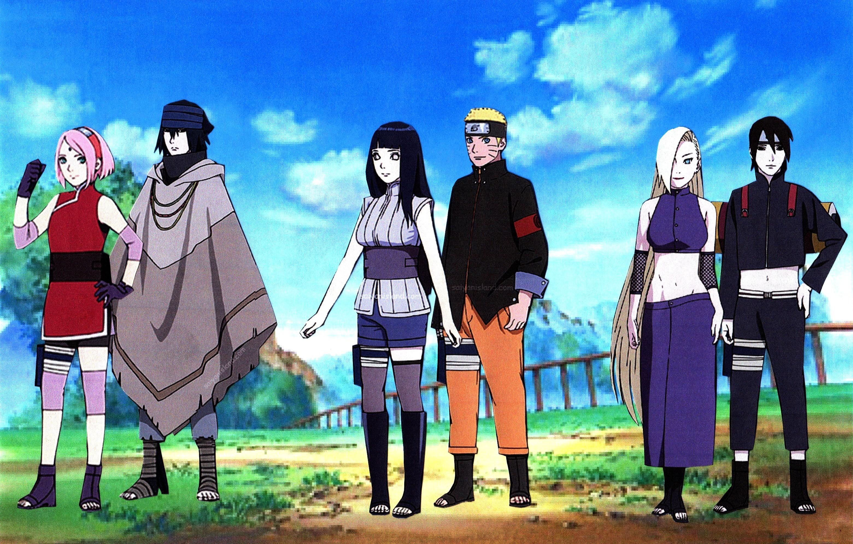 Naruto Hinata Sasuke Sakura Sai Ino Wallpaper By Weissdrum - Sasuke Sakura Naruto Hinata - HD Wallpaper