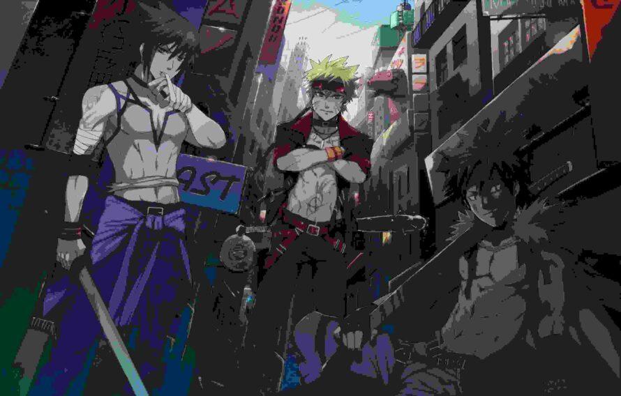 Battle Naruto Vs Sasuke Wallpaper Desktop Free Laptop - Naruto Sasuke And Kiba - HD Wallpaper