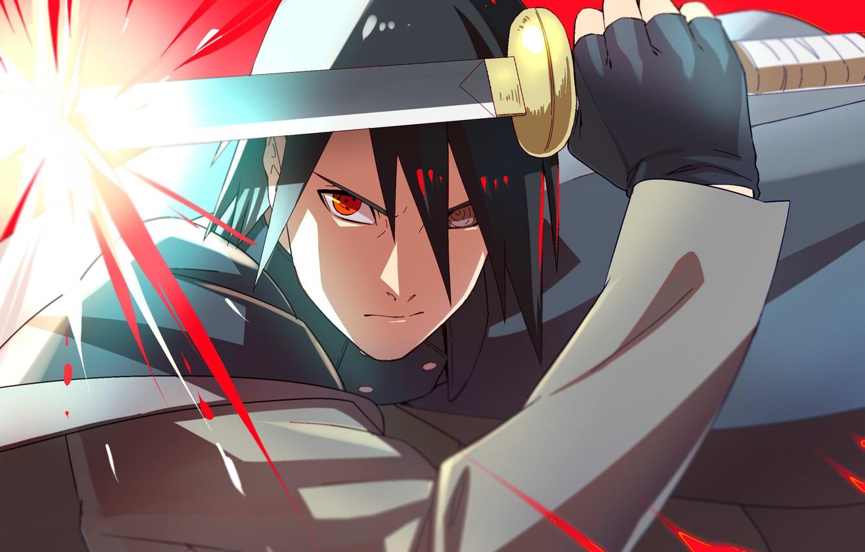 Photo Wallpaper Anger, Naruto, Katana, Sharingan, Uchiha - Sasuke Boruto Naruto Next Generation - HD Wallpaper