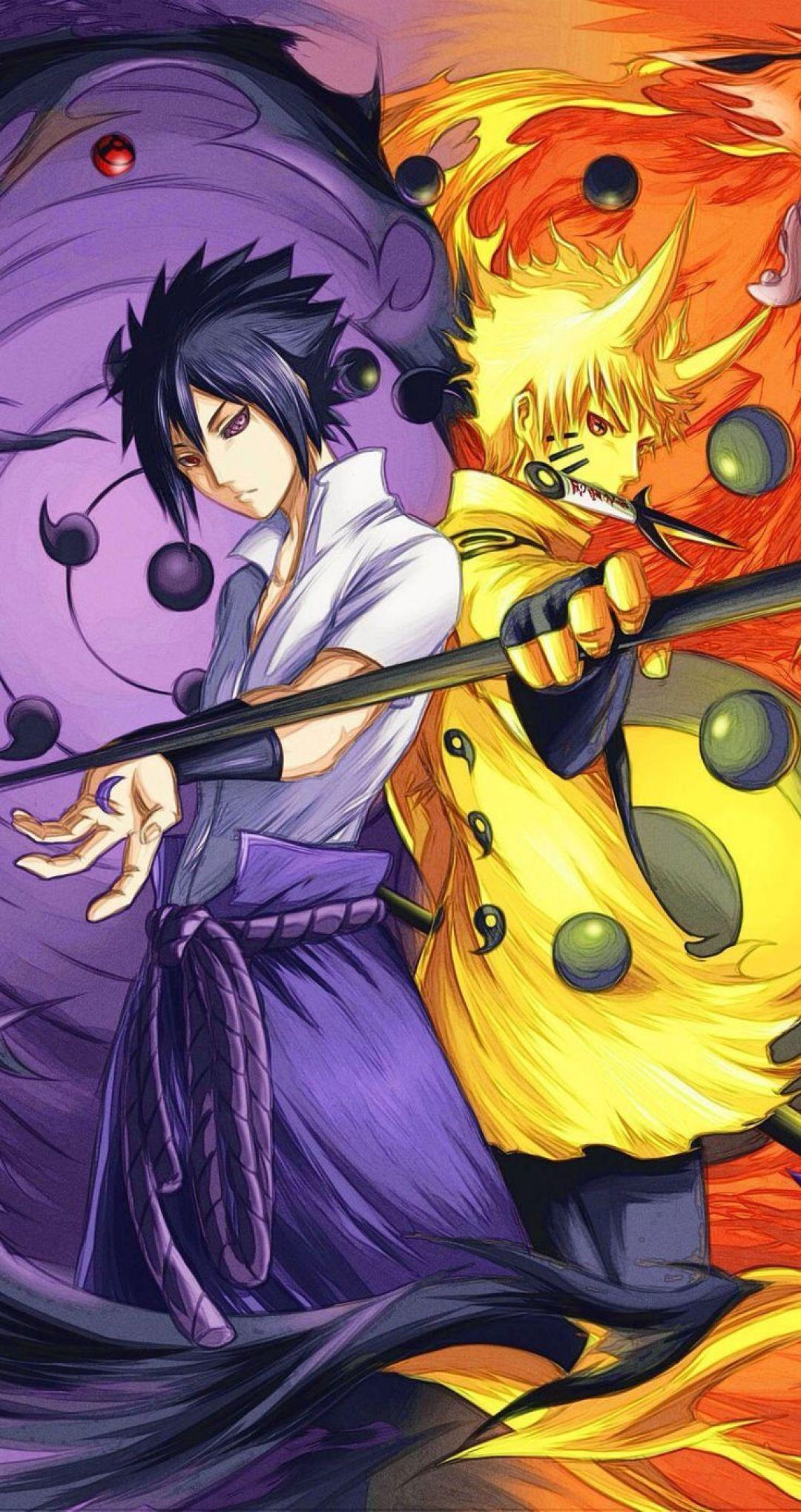 Naruto Shippuden Iphone Naruto And Sasuke Sage Mode 1080x2038 Wallpaper Teahub Io
