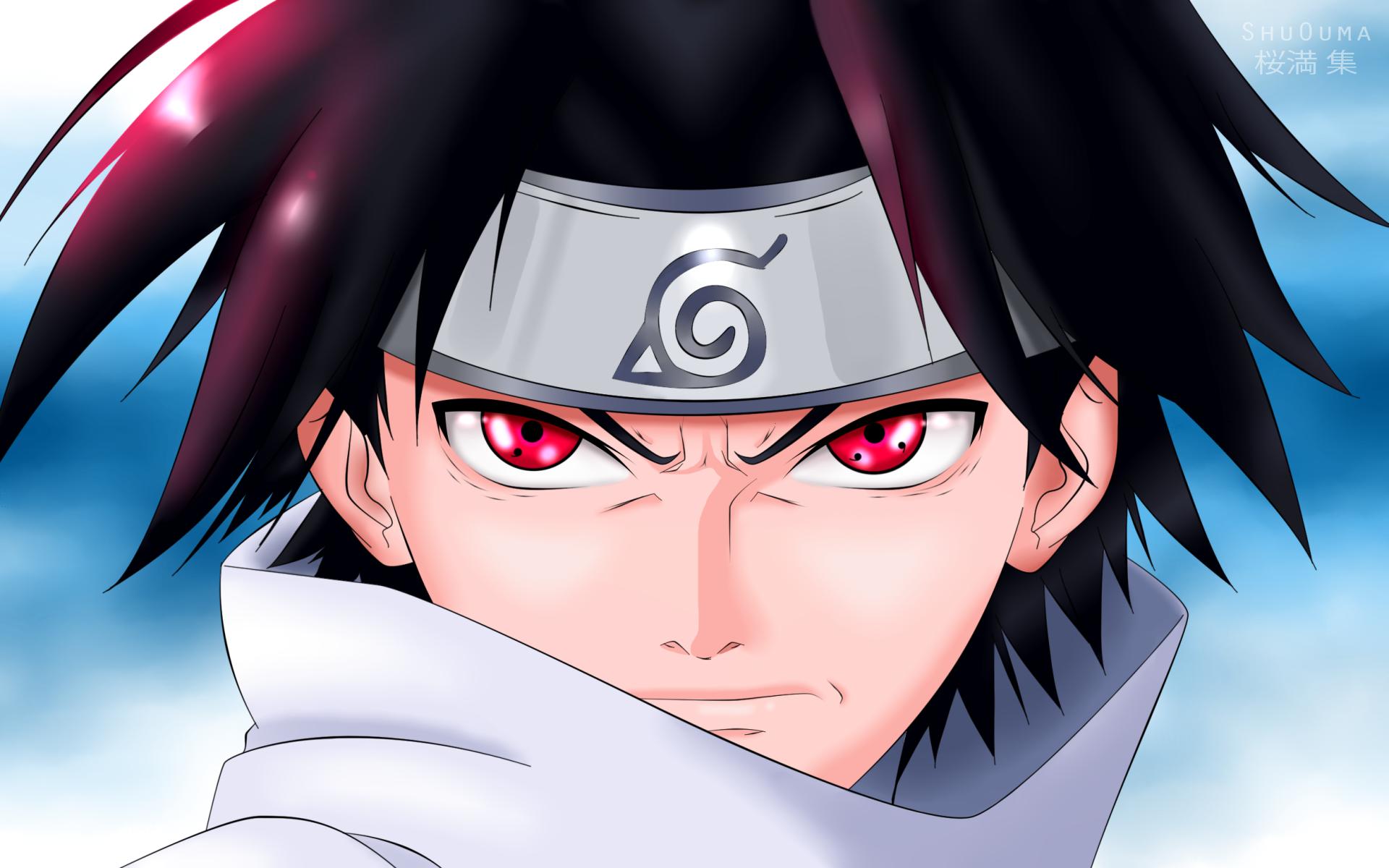 Sasuke Uchiha, Red Eyes, Ninja Sharingan, Manga, Naruto - Sasuke Uchiha Sharingan - HD Wallpaper