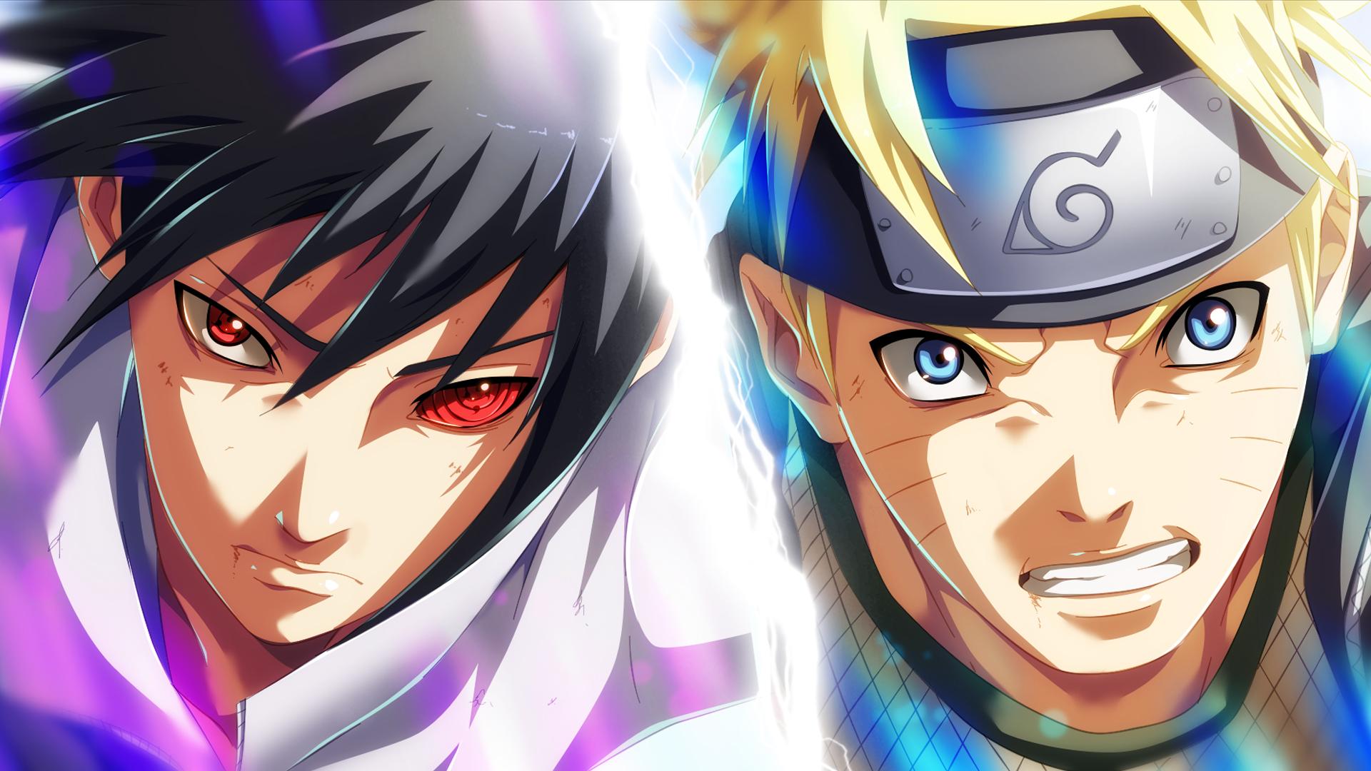 Naruto Sasuke Wallpaper Hs - Sasuke E Naruto Hd - HD Wallpaper