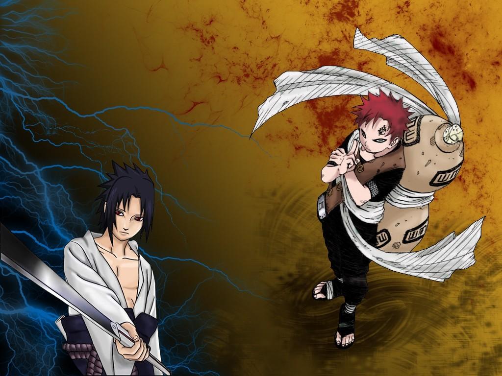 Picture Naruto Uchiha Sasuke Vs Itachi Shippuden Smscs - Naruto Gaara - HD Wallpaper