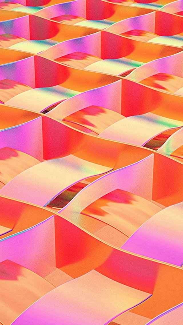 Art Paper Red Rainbow Color Pattern Iphone Wallpaper - Rainbow Colors Ios - HD Wallpaper