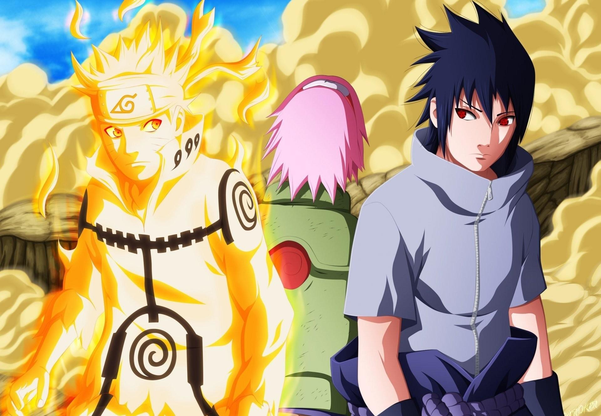 Photo Wallpaper Game, Sasuke, Naruto, Sakura, Anime, - Naruto And Sasuke Great Ninja War - HD Wallpaper