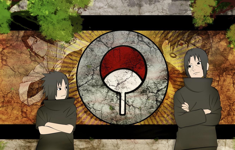 Photo Wallpaper Sasuke, Naruto, Anime, Art, Itachi, - Sasuke And Itachi - HD Wallpaper