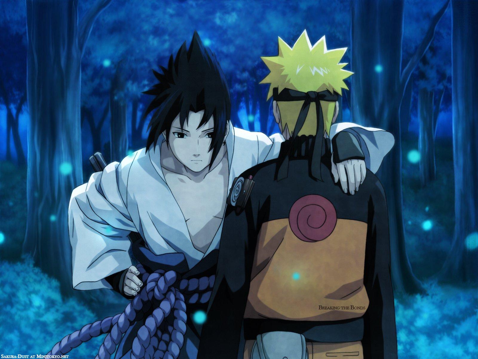 Naruto Shippuden Naruto Et Sasuke - HD Wallpaper