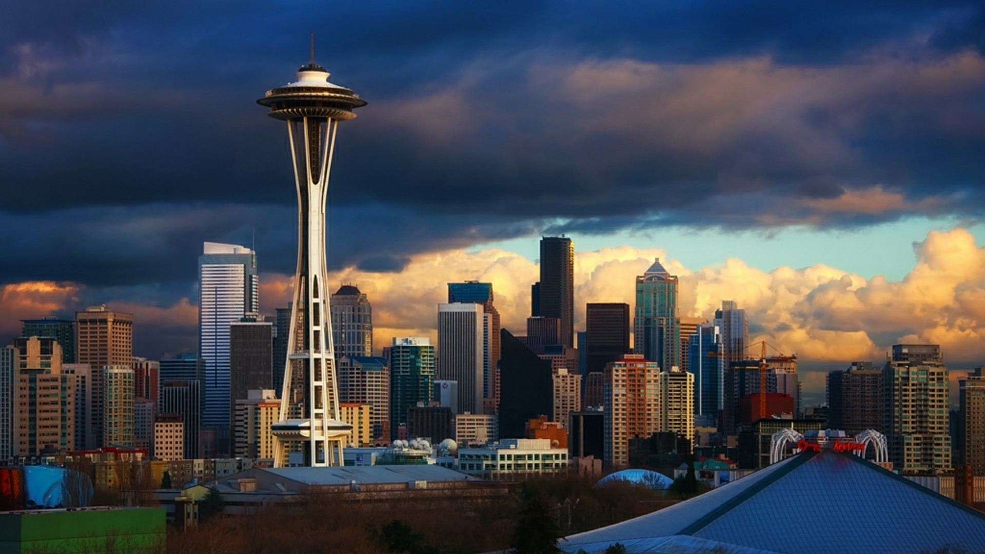 1920x1080 Seattle Center Washington United States Android Seattle Backgrounds 1920x1080 Wallpaper Teahub Io