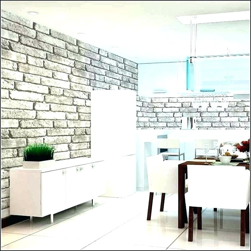 Wallpaper Designs For Living Room India Wallpaper Designs - Grey Brick Wall Kitchen - HD Wallpaper
