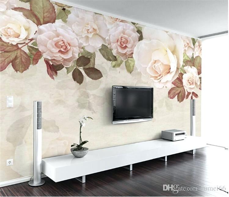 Flower Wallpaper Mural Large Size Wall Mural For The - Flower Wallpaper For Home Wall - HD Wallpaper
