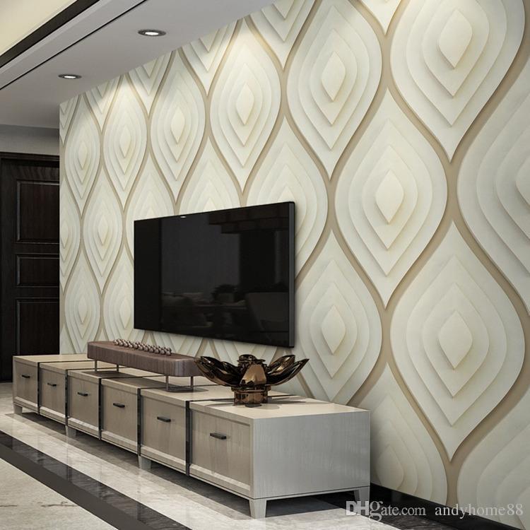 Hall Living Room Tv Wall Design - HD Wallpaper