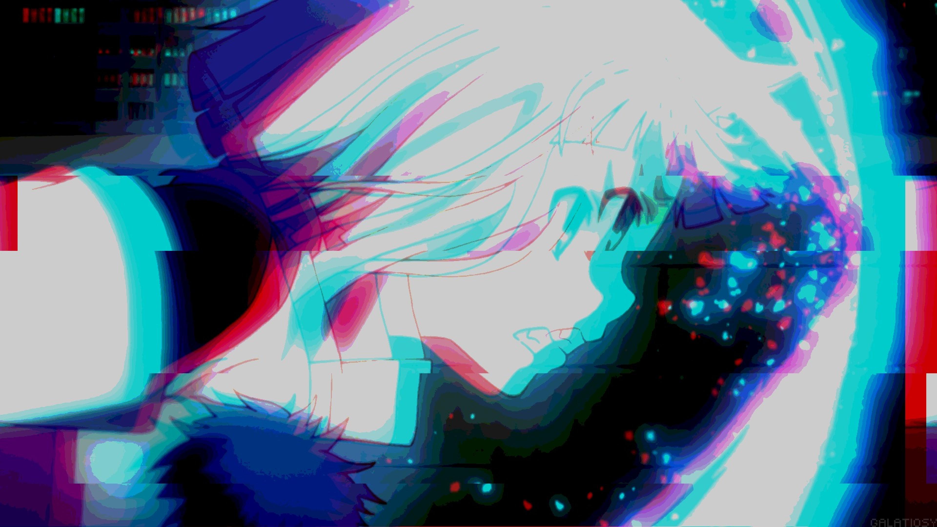 Anime Girl Aesthetic Glitch 4k Ultra Hd Wallpaper Anime Aesthetic Wallpaper Desktop 3840x2160 Wallpaper Teahub Io