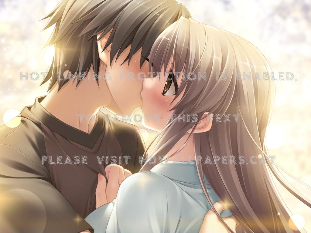 Cute Anime Couple Animekiss Animeboy Love Cute Anime Couple Kissing 1024x768 Wallpaper Teahub Io