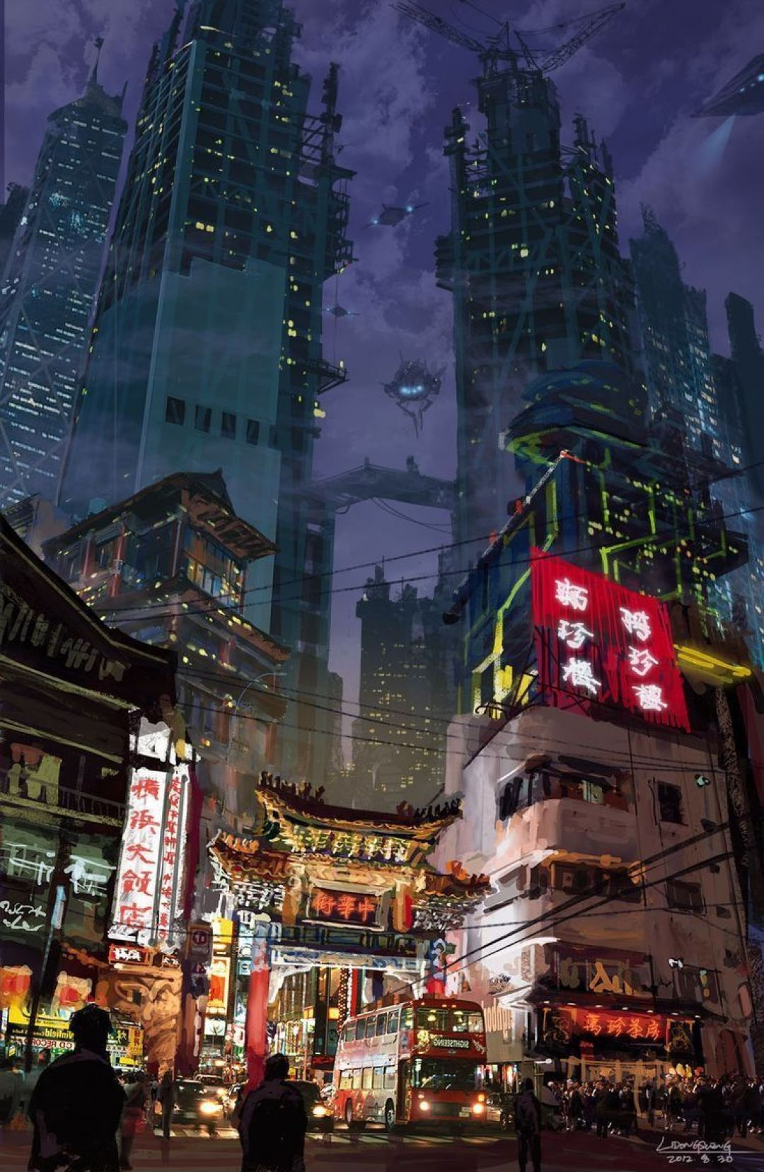 Japanese Anime City Cyberpunk Anime Wallpaper Phone 1080x1657 Wallpaper Teahub Io