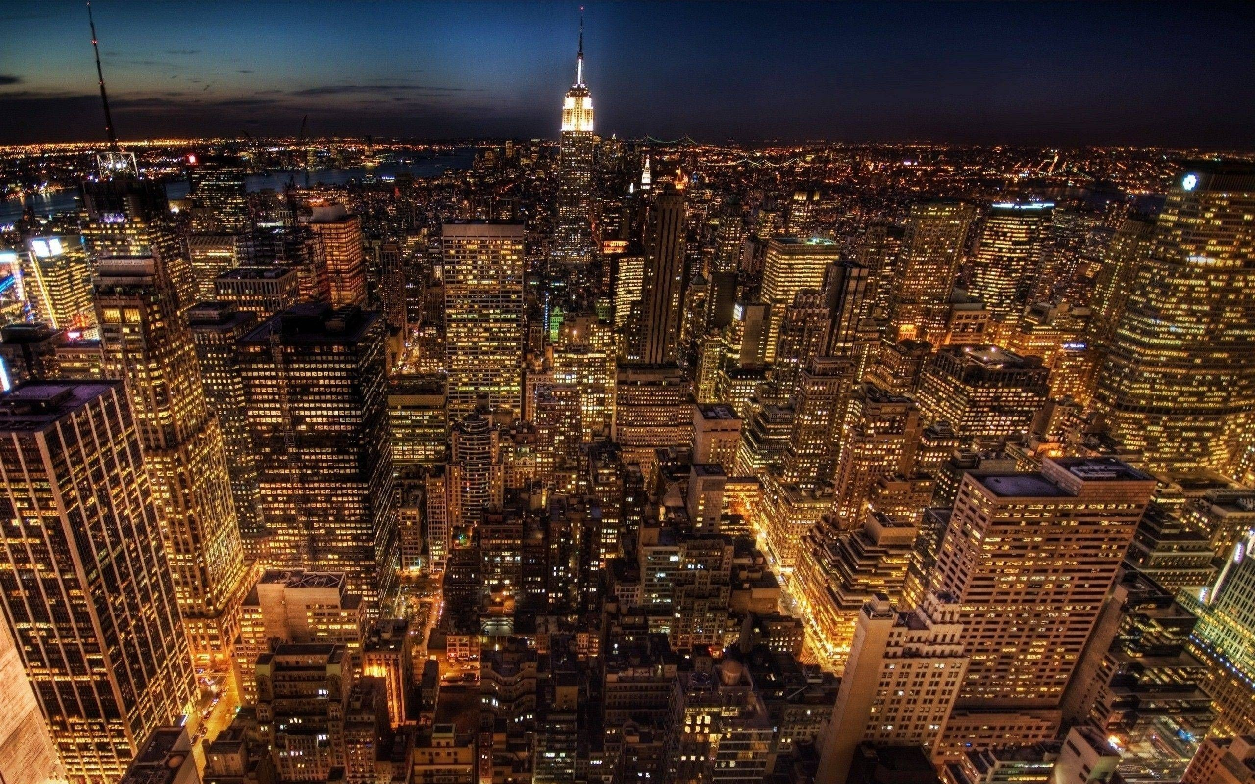 10 Best New York City Night Hd Wallpaper Full Hd 1080p - New York City At Night Hd - HD Wallpaper