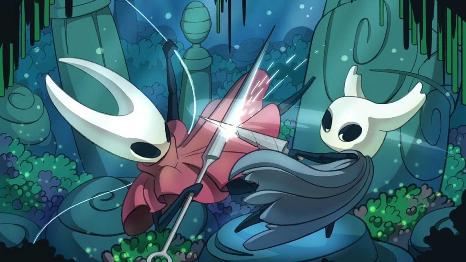 Hollow Knight Game Desktop Backgrounds Hd With High Resolution Hollow Knight Hornet Fight 1920x1080 Wallpaper Teahub Io