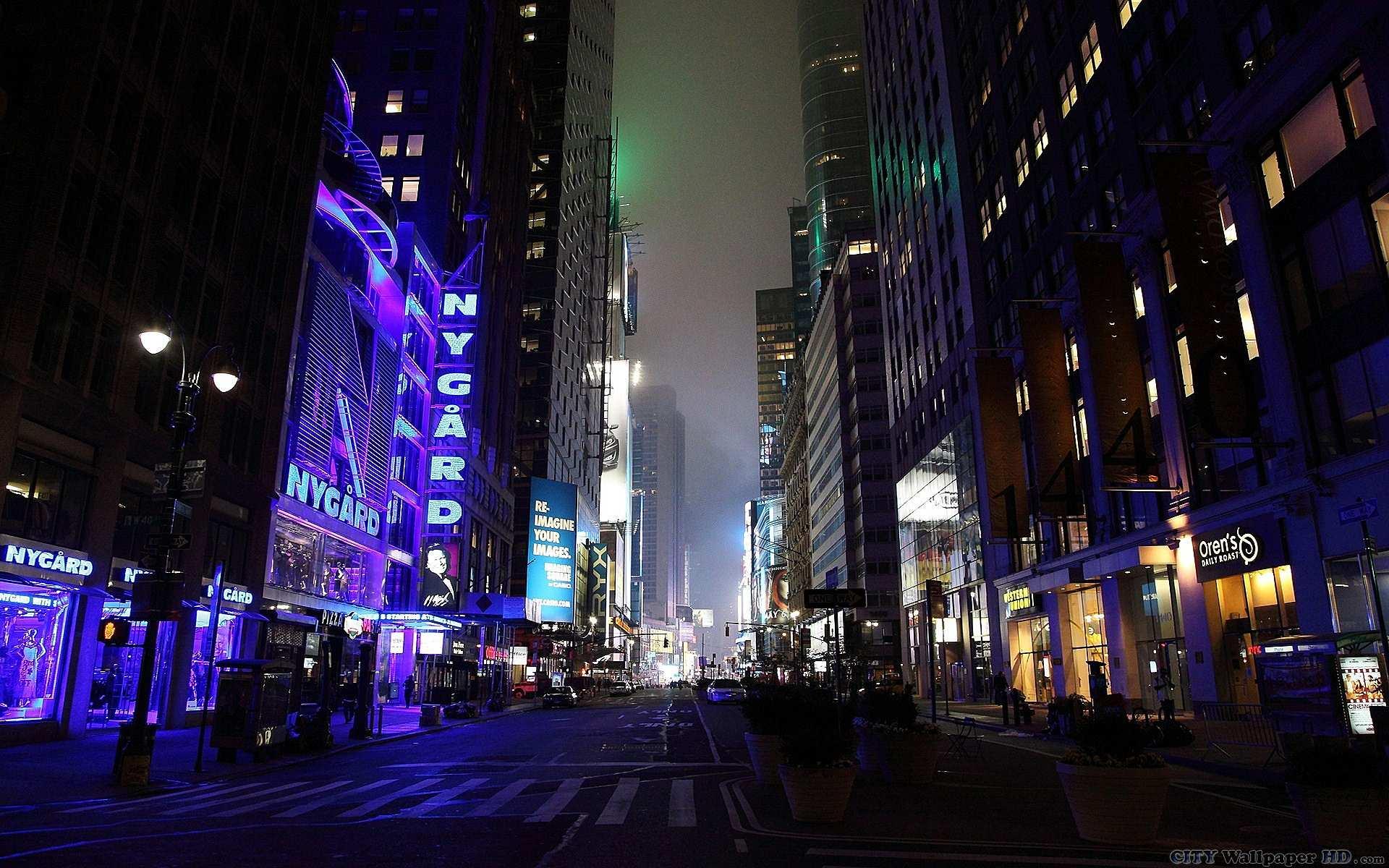 Funky Gloomy New York - Night City Streets 4k - HD Wallpaper