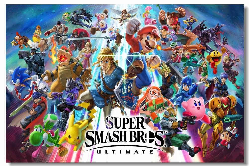 Custom Canvas Wall Painting Fire Emblem Poster Marth - Super Smash Bros Ultimate Poster - HD Wallpaper