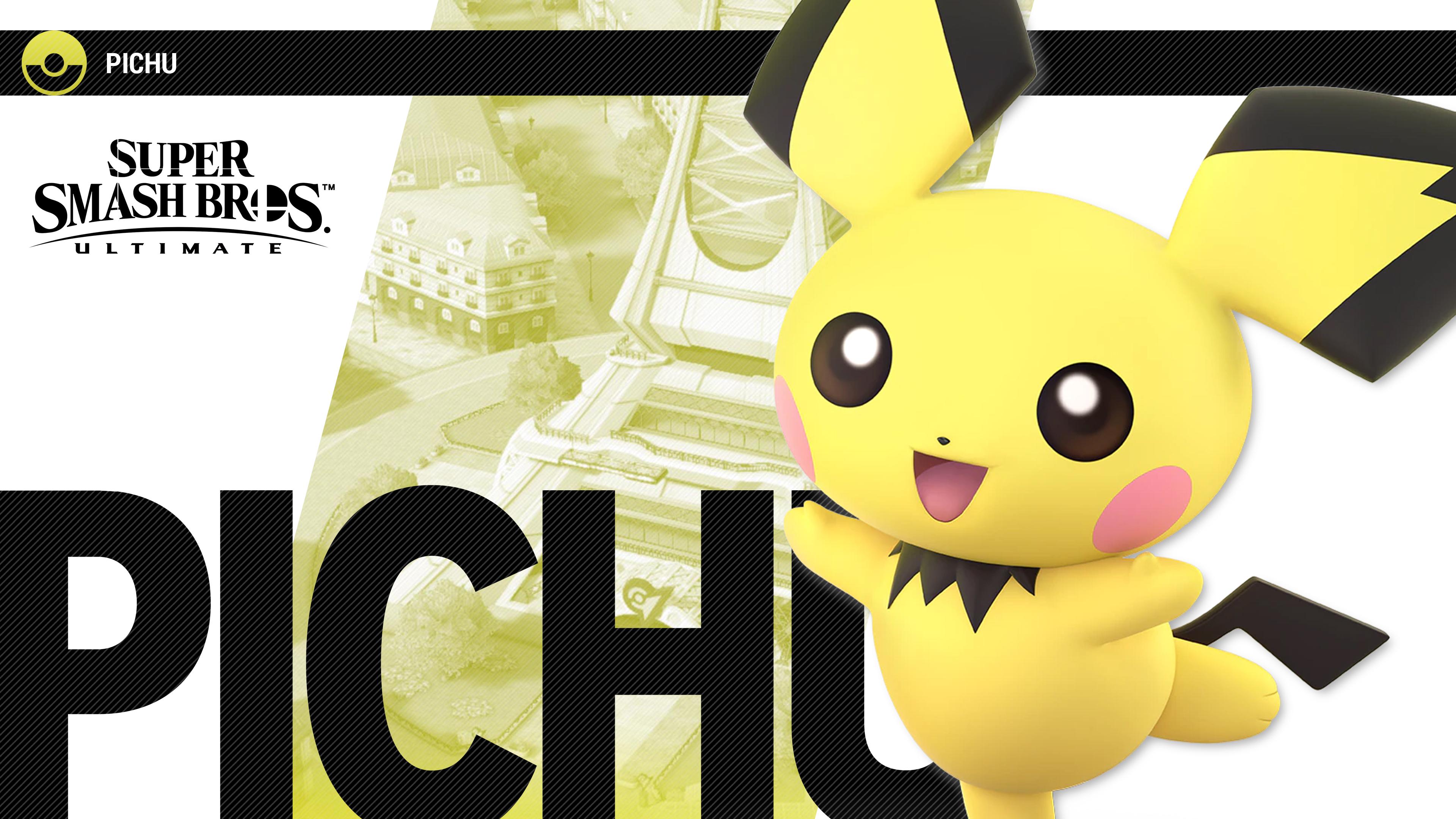 Super Smash Bros Ultimate Pichu - HD Wallpaper